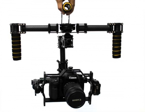 Handheld 3-Axis Camera Brushless Gimbal for Canon 5D2/ MSLR Kit W/ 3x Motors
