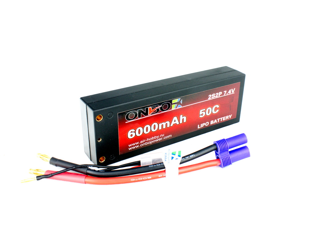 ONBO 6000mAh 2S 50C CAR Lipo Pack