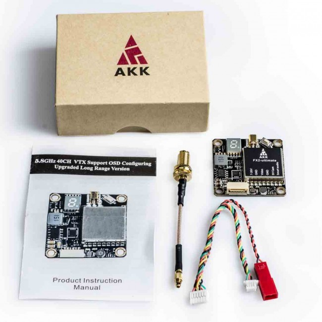 Передатчик AKK FX2-ultimate 5.8Ghz 40CH 25/200/600/1200mW Smart Audio