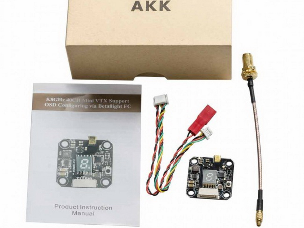 Передатчик AKK 20х20 FX3 5.8Ghz 40CH 25/200/400/600mW Smart Audio