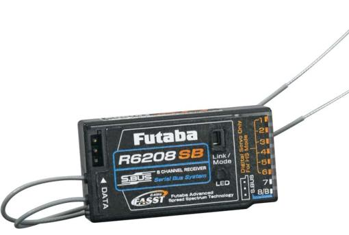 Futaba R6208SB 8-Channel 2.4GHz FASST High-Voltage Rx