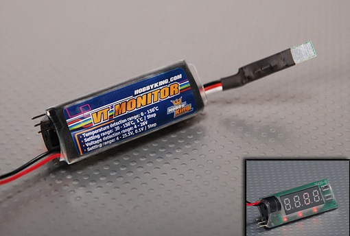 HobbyKing Voltage & Temperature Monitor 2-6S (0-150C)
