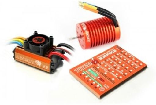 Leopard 60 A V2 Brushless System 10T 3300 KV Combo for 1/10 Car