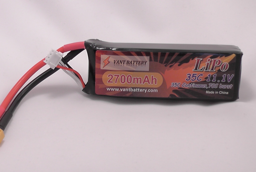 VANT BATTERY 2700mAh 3S 35C Lipo Pack